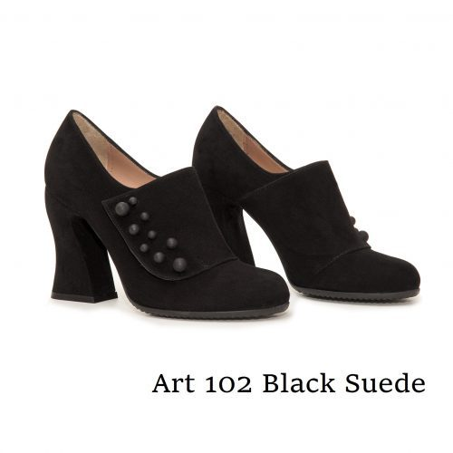 Shoes Art 102 Black Suede