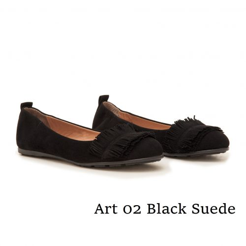 Ballerinas Art 02 Black Suede