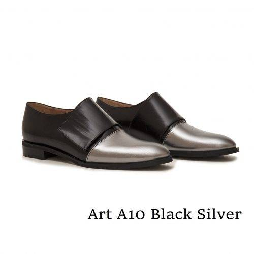Shoes Art A10 Black Silver
