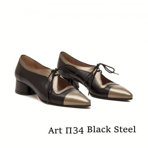 Shoes Art Π34 Black Steel