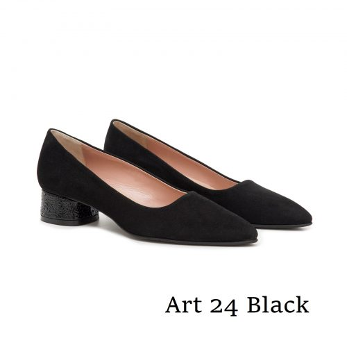 Shoes Art 24 Black Suede