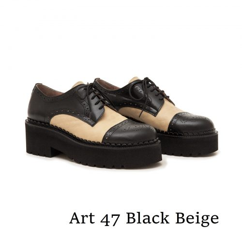 Shoes Art 47 Black Beige