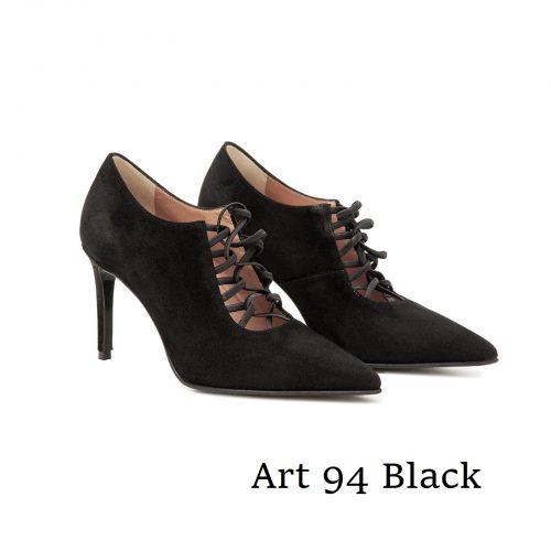 Shoes Art 94 Black Suede