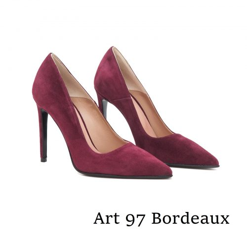 Shoes Art 97 Bordeaux Suede