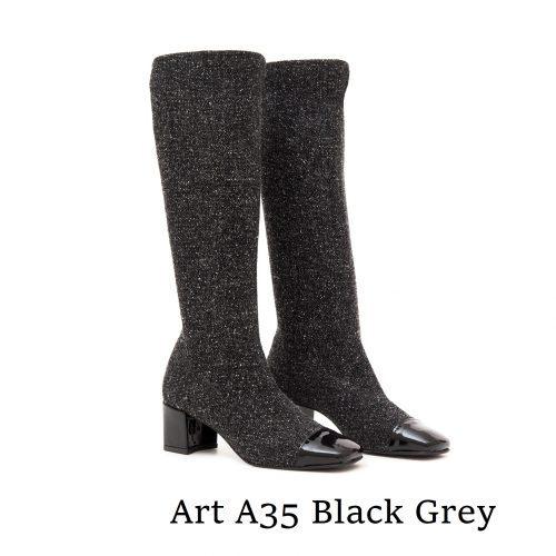 Shoes Art A35 Black Grey