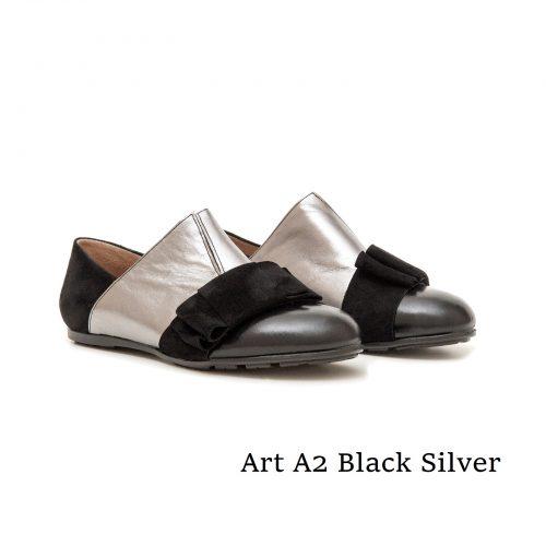 Shoes Art A2 Black Silver