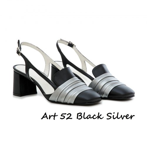 Shoes Art 52 Black Silver