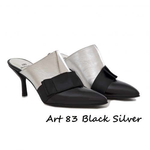 Shoes Art 83 Black Silver