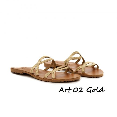 Shoes Art 02 Gold