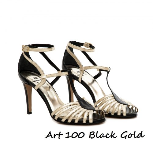 Shoes Art 100 Black Gold
