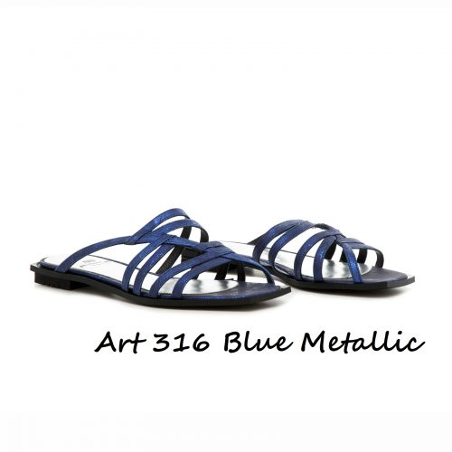 Shoes Art 316 Blue Metallic