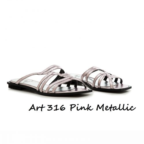 Shoes Art 316 Pink Metallic