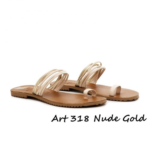 Shoes Art 318 Nude Gold