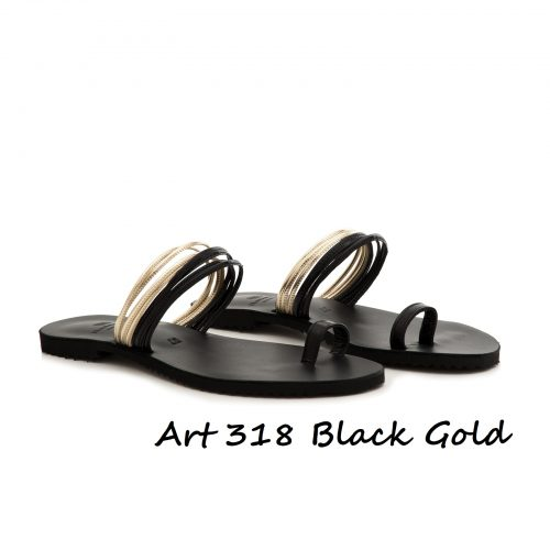 Shoes Art 318 Black Gold
