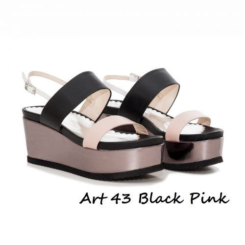 Shoes Art 43 Black Pink