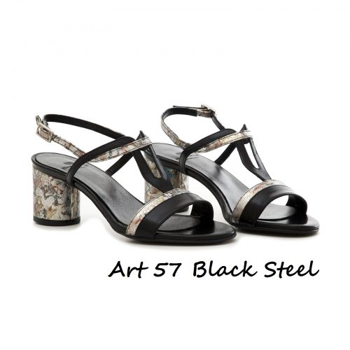 Shoes Art 57 Black Steel