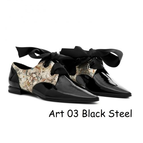 Women Shoes Art 03 Black Steel