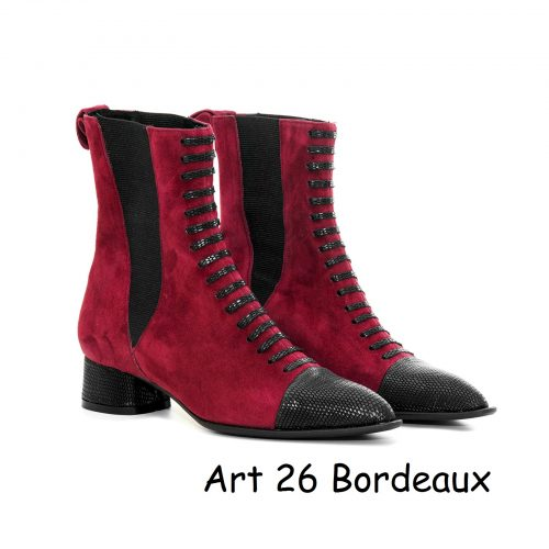 Women Shoes Art 26 Bordeaux
