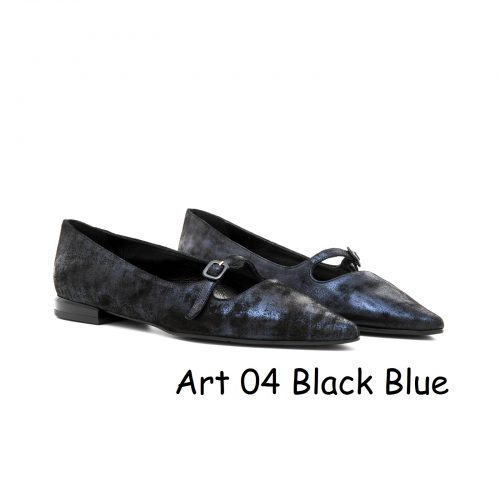Women Shoes Art 04 Black Blue