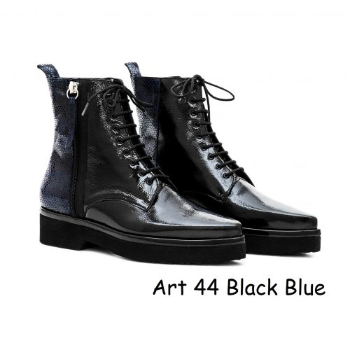 Women Shoes Art 44 Black Blue