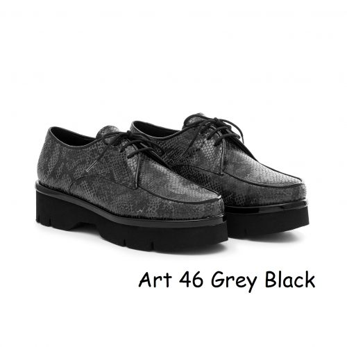 Women Shoes Art 46 Grey Black