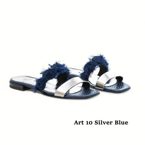 Women Shoes Art 10 Silver Blue