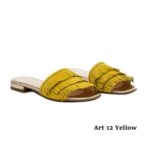Women Shoes Art 12 Yellow