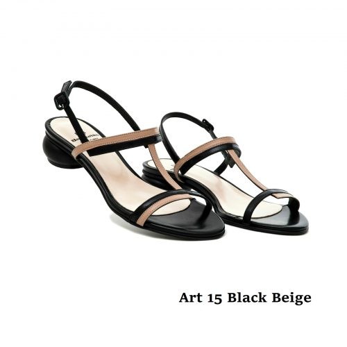 Women Shoes Art 15 Black Beige