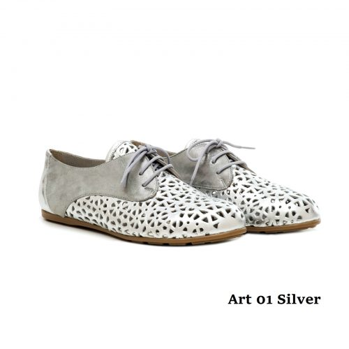 Women Shoes Art 01 Silver