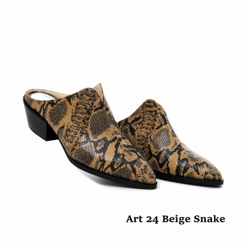 Women Shoes Art 24 Beige Snake