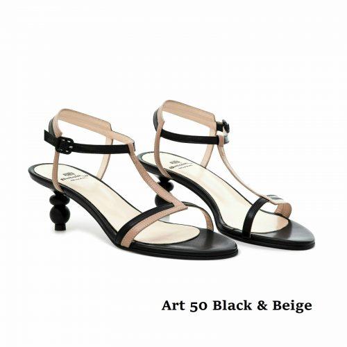 Women Shoes Art 50 Black & Beige
