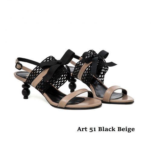 Women Shoes Art 51 Black Beige