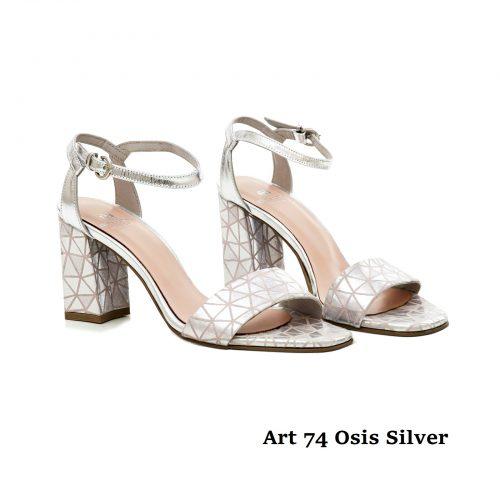 Women Shoes Art 74 Osis Silver Rose