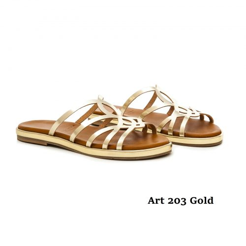 Women Shoes Art 203 Gold