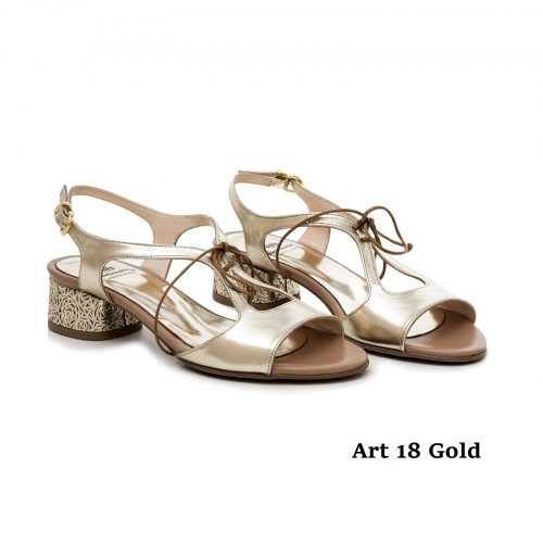 Women Shoes Art 18 Gold