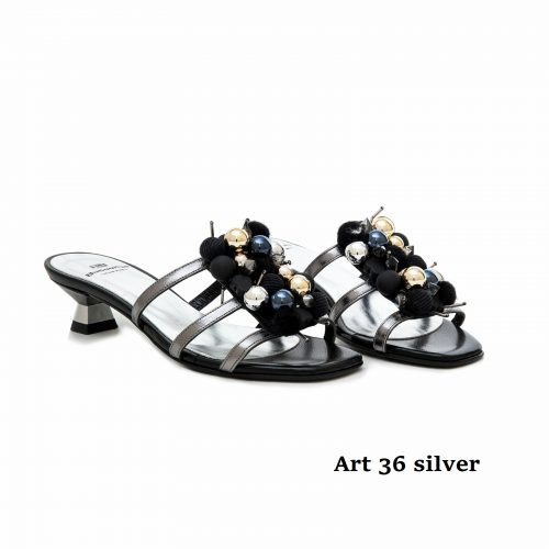 Women Shoes 36 Silver