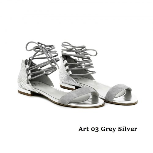 Women Shoes Art 03 Grey Silver