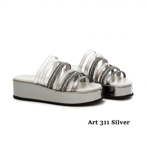 Women Shoes Art 311 Silver
