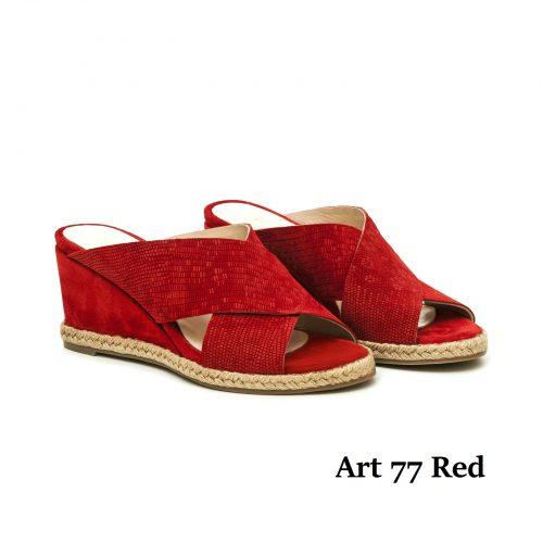 Women Shoews Art 77 Red