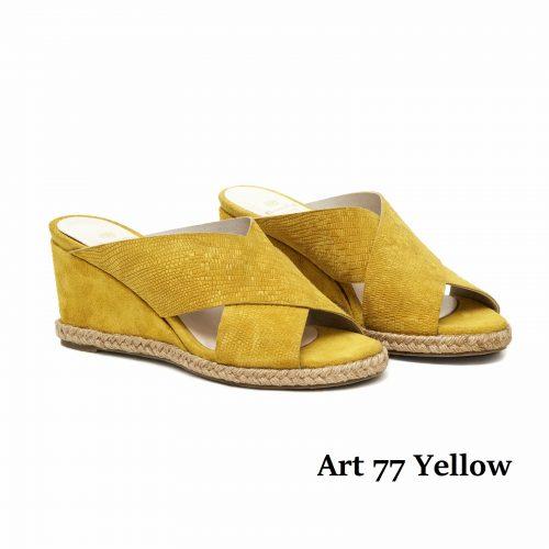 Women Shoes Art 77 Yellow