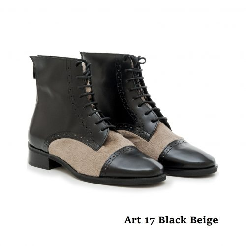 Women Shoes Art 17 Black Beige