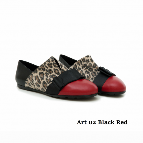 WOMEN SHOES ART 02 BLACK RED