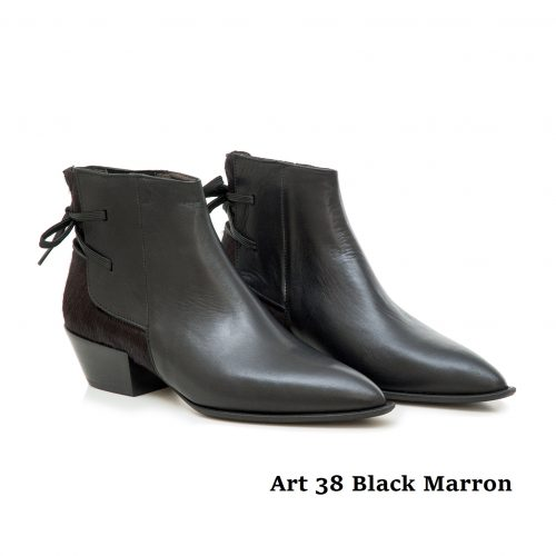 Women Shoes Art 38 Black Marron