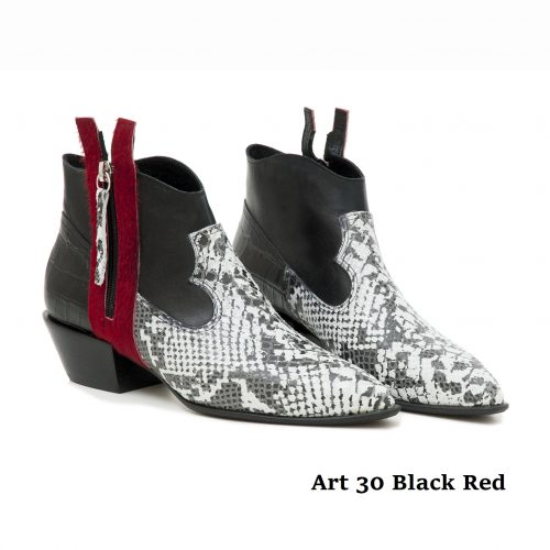 Women Shoes Art 39 Black Red
