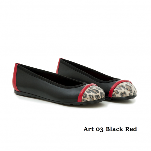 WOMEN SHOES ART 03 BLACK RED