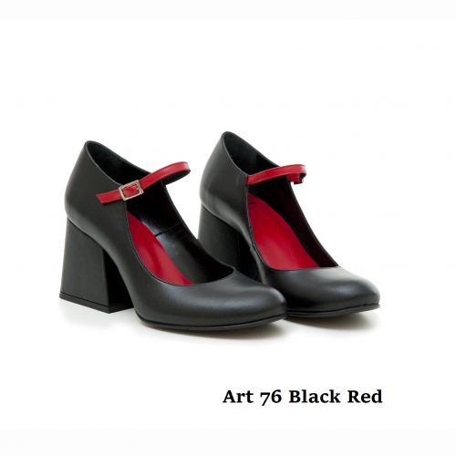 Women Shoes Art 76 Black Red