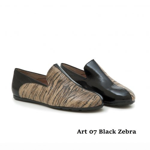 Women Shoes Art 07 Black Zebra
