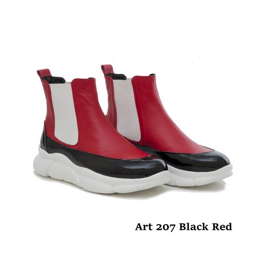 Women Shoes Art 207 Black Red