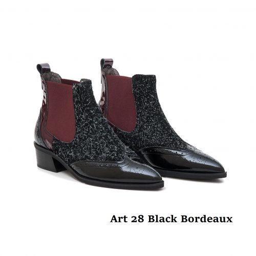 Women Shoes Art 28 Black Bordeaux
