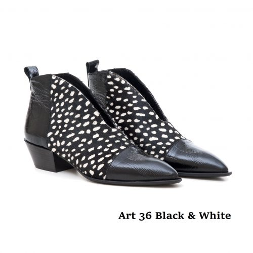 Women Shoes Art 36 Black Whte